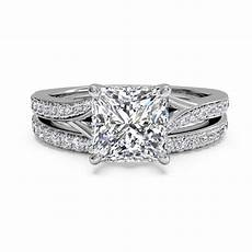 bridal 1 50ct diamond wedding engagement ring 14k white gold princess cut ebay