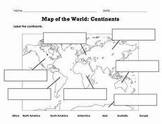 continents of the world worksheets label map of the world continents oceans mountain ranges