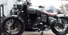 Modifikasi Motor Kawasaki W175 by Modif Kawasaki W175 Mirip Royal Enfield Classic 500 Ate