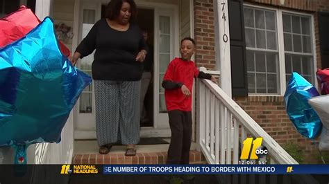 Mom Gives Son A Helping Hand