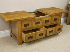 Oak Coffee Tables With Storage
