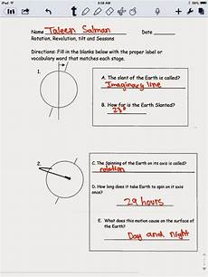 rotation of the earth worksheets 14448 science e portfolio