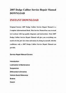 auto repair manual free download 2007 dodge caliber transmission control 2007 dodge caliber service repair manual download