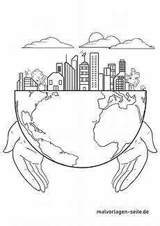 malvorlage nachhaltigkeit umweltschutz kostenlose