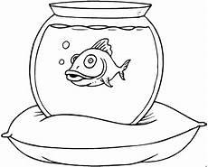 goldfisch im glas ausmalbild malvorlage tiere