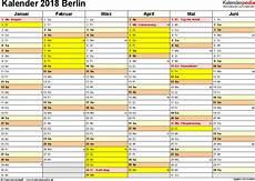 kalender 2018 berlin ferien feiertage excel vorlagen