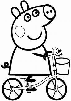ausmalbilder peppa wutz fahrrad ausmalbilder kinder