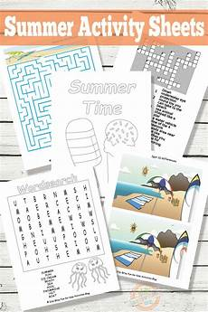 printable summer activity sheets kids activities