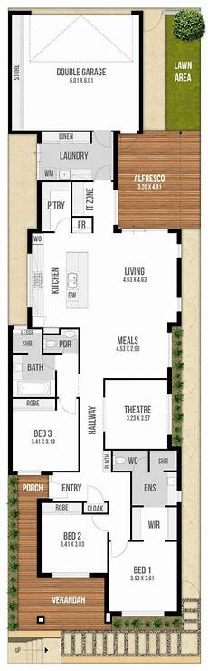 narrow lot house plans with rear garage floor plan friday narrow block with garage rear lane