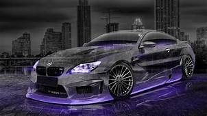BMW M6 Hamann Tuning 3D Crystal City Car 2015 Violet Neon