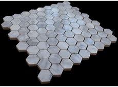 Italian White Carrara Polished Marble 1x1 Mosaic Tile
