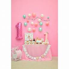 5x7ft Baby Happy Birthday Photography Backdrop by Hellodecor Polyster 5x7ft Baby 1st Birthday Backdrop