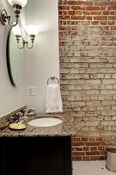 stylish exposed brick wall 39 stylish bathrooms with brick walls and ceilings digsdigs