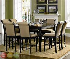 two tone counter height table 9 piece dining room furniture cappuccino ebay