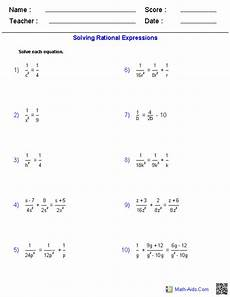 solving rational equations worksheet with answers algebra 1 worksheets rational expressions worksheets