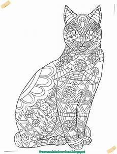 malvorlagen katzen mandala ausmalbilder katzen