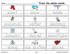 free winter handwriting worksheets 20021 printable winter words handwriting tracing worksheet supplyme