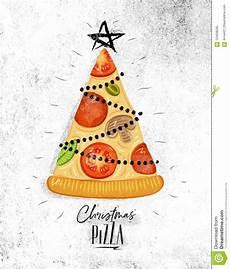 poster christmas tree pizza stock vector illustration of merry modern 124638265