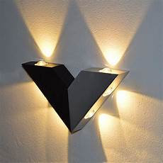 modern and original led wall light white wall light typhoon 2018 aluminum modern wall sconce triangle v shape 6 w 6