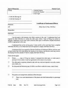 fillable online mncourts bcertificateb of settlement efforts minnesota judicial branch