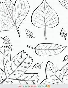 cascading fall leaves printable coloring pages