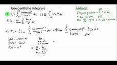 uneigentliche integrale 1