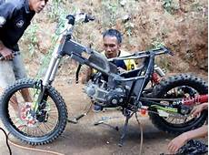 7 Contoh Gambar Rangka Modifikasi Motor Bebek Jadi Trail