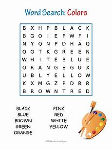 colors crossword worksheets 12726 colors word search