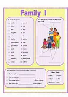 new 227 family members worksheet spanish family worksheet