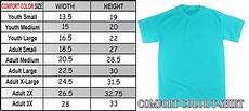 Comfort Colors Tank Size Chart Comfort Color Sizing Charts Tees2urdoor