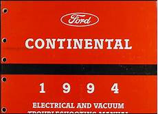 electric and cars manual 1994 lincoln continental on board diagnostic system 1994 lincoln continental electrical and vacuum troubleshooting manual
