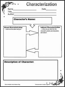 free printable worksheets for middle school 18667 free characterization worksheet for middle schoolers middle school reading middle school