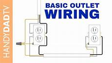 how to wire an electrical outlet youtube