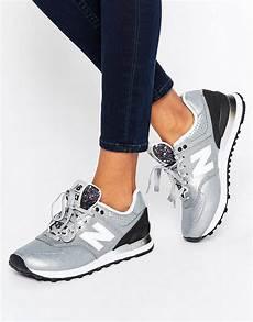 new balance 574 silver metallic sneakers fashion new