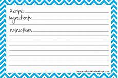 40 recipe card template and free printables tip junkie