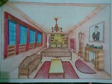 Gambar Perspektif Kamar Tidur Sederhana Interior Rumah