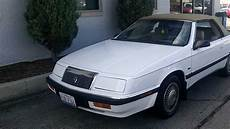 1992 Chrysler Lebaron Lx V 6 Convertible With 60 300