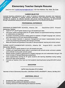 elementary teacher resume sle writing tips resume