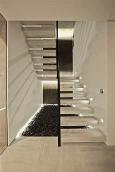 treppenaufgang wand gestalten moderne schicke treppen beleuchtung archzine net
