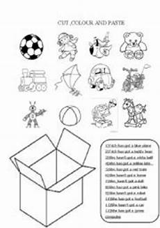 worksheets colors and toys 12707 cut colour and paste the toys esl worksheet by aleafff
