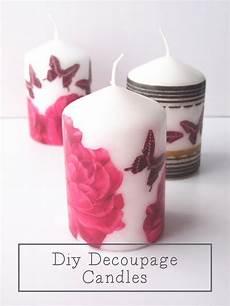 decoupage candele diy decoupage candles gathering