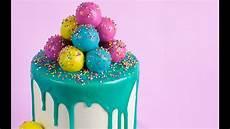 ganache cake pop decorated cake tutorial rosie