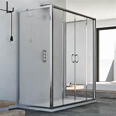 box doccia 2 lati box cabina doccia 3 tre lati 80x160x80 cm vetro 6mm