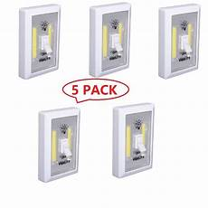 5 pack cob led wall switch wireless closet cordless night light battery operated ebay