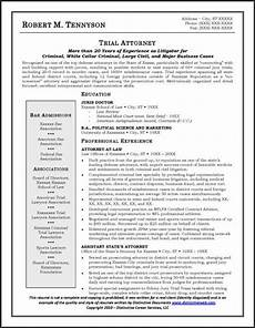 sle resume for an attorney