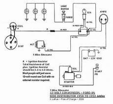 12 volt tractor alternator wiring diagram wiring diagram for 1953 ford jubilee 12v alternator