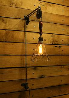 industrial trouble light pulley sconce wall with
