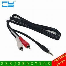 aliexpress buy new av 1 into 2 audio stereo aux cord