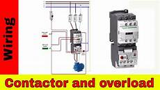 how to wire a contactor and overload direct online starter youtube