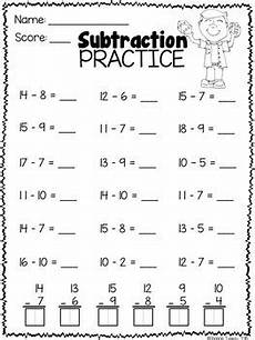 maths subtraction worksheets for grade 1 10458 math worksheets 1st grade subtraction practice by shanon juneau